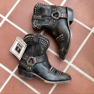 Never Worn Frye Billy Biker Stud Cowboy Moto Boots
